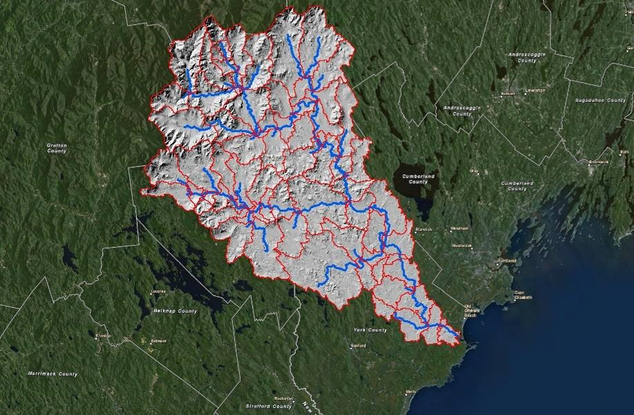 Saco River Watershed for University of New England Biddeford ME